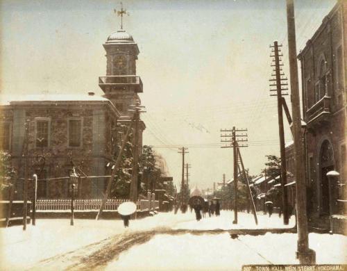 明治時代の横浜本町通り(横浜開港資料館蔵)