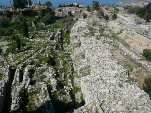 ビュブロスの遺跡 青銅器時代の堡塁跡