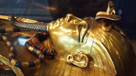講師撮影:ツタンカーメン王の黄金のマスク