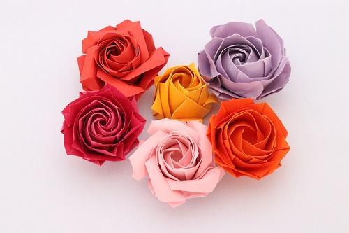 折り紙 花 立体 バラ