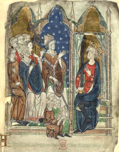 エドワード1世の戴冠(大英図書館蔵)