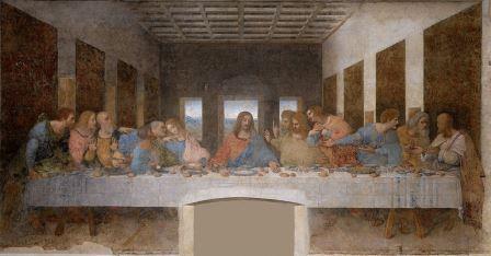 「最後の晩餐」レオナルド・ダ・ヴィンチ画