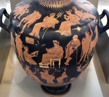 アプリアの赤絵式ヒュドリア、エレウシスの密儀
