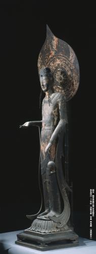 観音菩薩立像(百済観音) 飛鳥時代・7世紀 法隆寺蔵 通期 写真飛鳥園