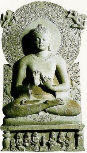 初転法輪像(サールナート考古博物館)