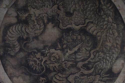 (大徳寺)重文 法堂 狩野探幽筆天井画龍図