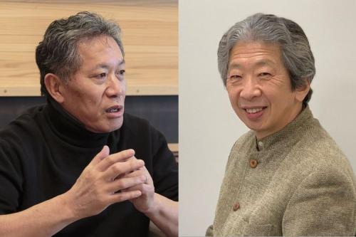 内田樹さん(左)と小森陽一さん(右)