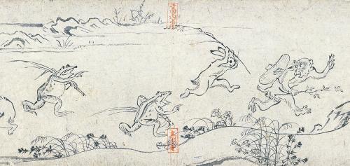 国宝 鳥獣戯画 甲巻(部分)