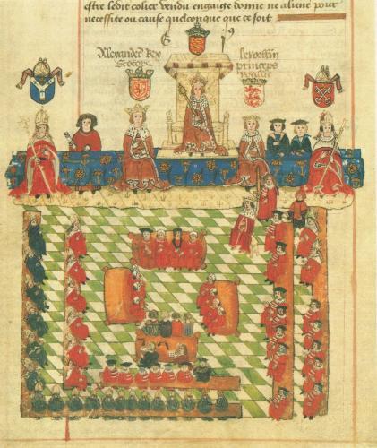 エドワード1世時代の議会の模式図