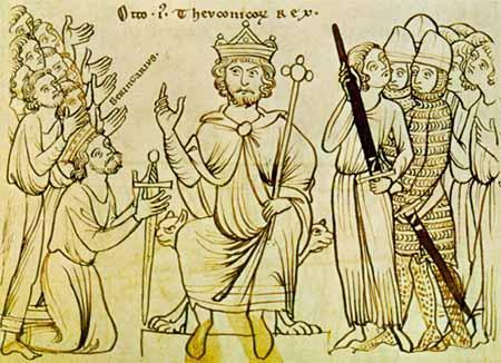 ドイツ王オットー1世(神聖ローマ皇帝)、1200年頃の写本挿絵