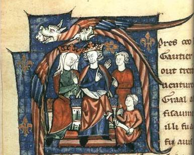 ヘンリ2世とアリエノール・ダキテーヌ、12世紀の写本挿絵