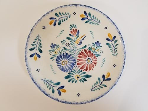 1日体験「花模様の小皿」