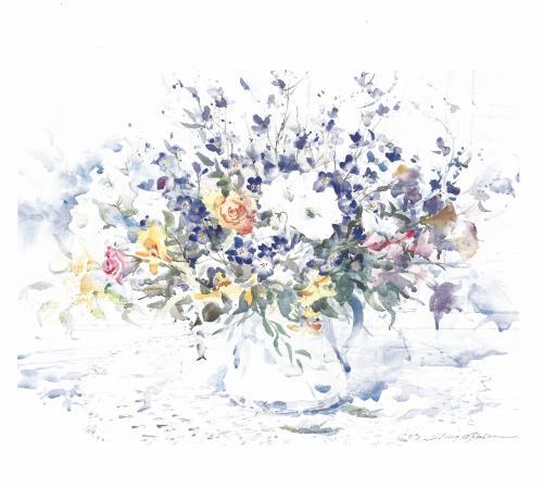 講師作品「花たち」
