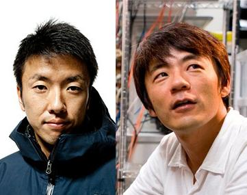 小久保英一郎さん(右)と石川直樹さん(左)