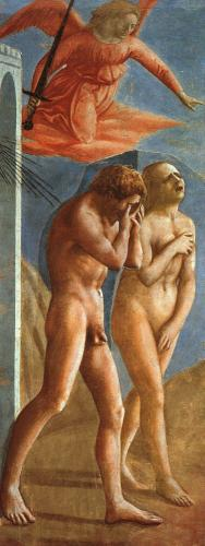 マザッチョ《楽園を追放されるアダムとエヴァ》  1215-35年
