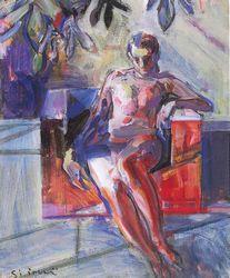 講師作品「裸婦座像」