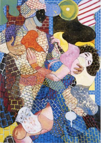 横尾忠則《愛のアラベスク》2012年 油彩、画布 作家蔵