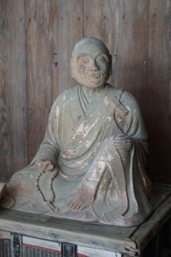 水分神社の西行像