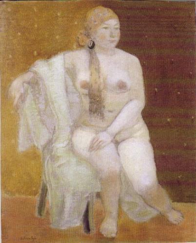 辻司講師の作品(パステル画、裸婦)