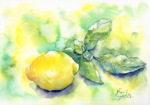 レモンとハーブ
