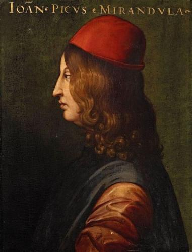 ピーコ・デッラ・ミランドラの胸像(フィレンツェ、ウフィツィ美術館)