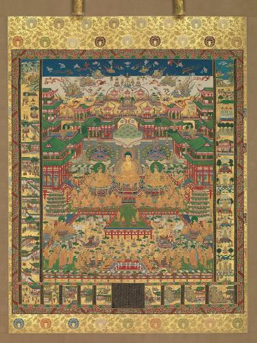 当麻曼荼羅(蔵・メトロポリタン美術館)