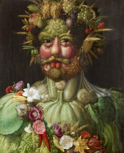 Vertumnus årstidernas gud målad av Giuseppe Arcimboldo 1591