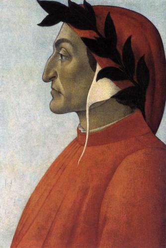 ボッティチェッリ《ダンテ・アリギエーリの肖像》 1495年