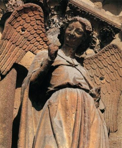 仏ランス大聖堂の《微笑の天使》
