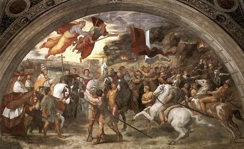 レオ1世大教皇とアッティラの会見(バチカン、ラファエロの間)
