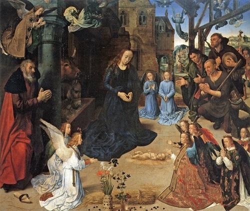 フース《羊飼の礼拝》ウフィツィ美術館
