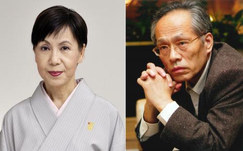 田中優子さん(左)、佐高信さん(右)