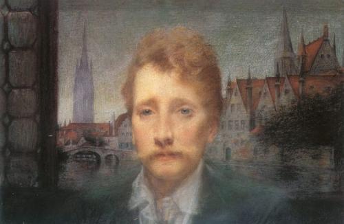リュシアン・レヴィ=デュルメール 《ローデンバッハの肖像》 1898年 パステル、紙 パリ、オルセー美術館
