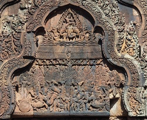 寺院に遺る浮彫(ヒンドゥー教図像)