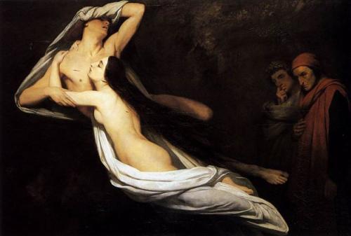 アリ・シェフェール 『パオロとフランチェスカ』 1835年 キャンヴァスに油彩 166.5×234 cm ウォレス・コレクション