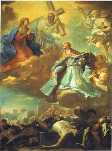 ルカ・ジョルダーノ《1656年ナポリのペスト》1660-61年頃