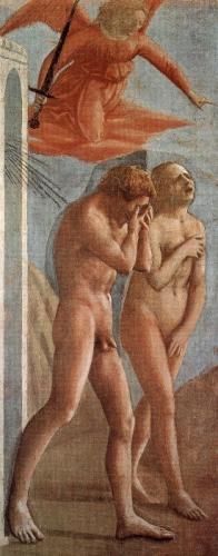 フィレンツェのカルミネ聖堂フレスコ壁画