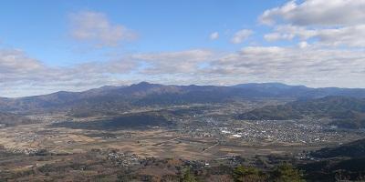 高清水展望台からの遠野盆地