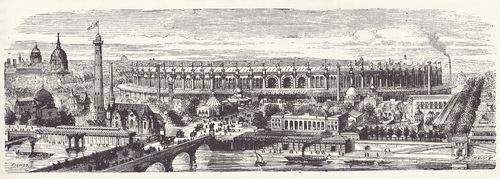 1867年パリ万博全景(©F. Ducuing, 1867)