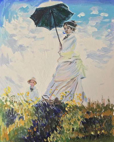 講師作品monet_woman_parasol