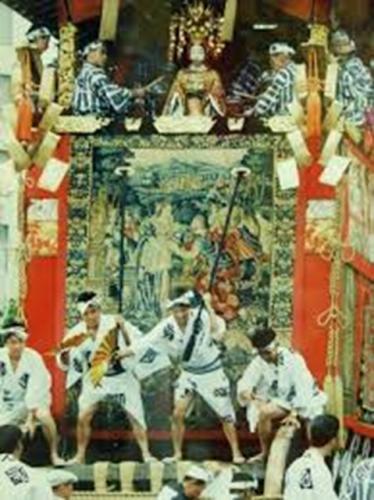 祇園祭の山鉾のタペストリ(イサクの結婚)
