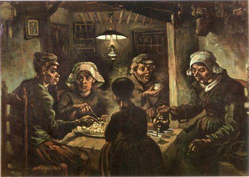 《馬鈴薯を食べる人たち》