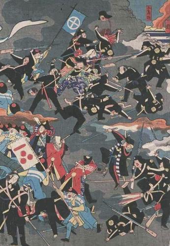 東京大学史料編纂所蔵「毛理嶋官軍大勝利之図」(1868年)
