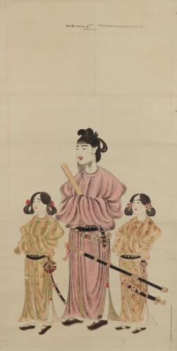 聖徳太子二王子像(模本)狩野養信筆