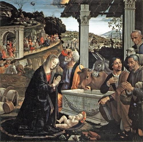 ギルランダイオ《羊飼の礼拝》サンタ・トリニタ聖堂