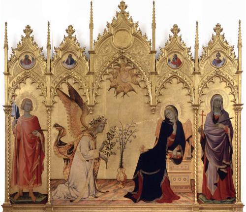 シモーネ・マルティーニ《受胎告知》1333年ウッフィーツィ美術館