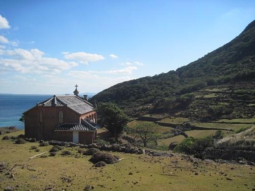 野首教会と集落