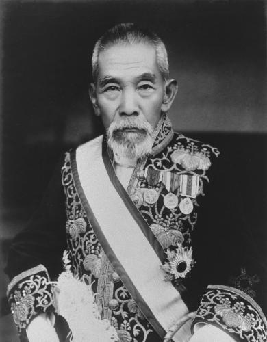 犬養毅首相(『近世名士写真』国立国会図書館ウェブサイトより)