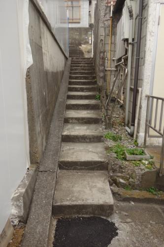 板橋区大谷口2丁目の階段