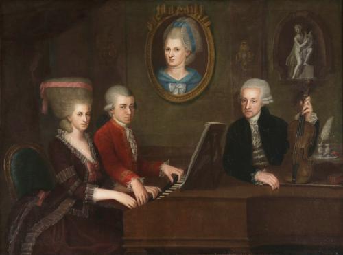 モーツァルト一家、クローチェ画、1780年頃
